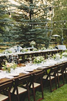 #Outdoor Wedding in the Woods -- #AlFresco Dining -- on SMP: / Hugh Forte Photography