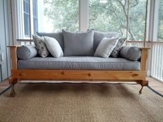 Diy porch swing bed - Sometimes simple is best. A swinging porch bed is easy to make. Easy on the eyes and the perfect place for reading,