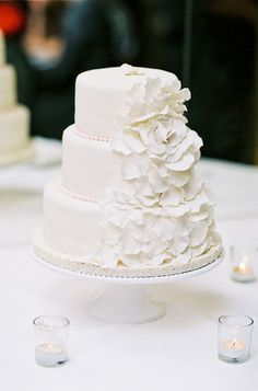 all white #wedding cake