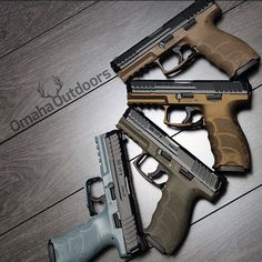 Which one would you take? HK VP9 9mm pistols in FDE, Burnt Bronze, Foliage Green, and Urban Grey. Follow @omahaoutdoors if you haven't done so already. Ready to ship to your FFL. Contact Omaha...