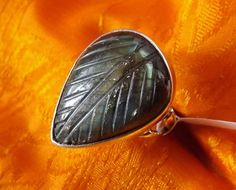 silver ring Labradorite by lesillondeletoile on Etsy