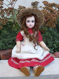 rare TETE JUMEAU french bisque doll size 9