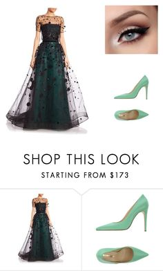 """""""Special green occasion"""" by angel-0825 ❤ liked on Polyvore featuring Carolina Herrera and Atos Lombardini"""