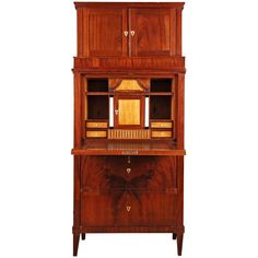 19th Century German Biedermeier Style Secretary | From a unique collection of antique and modern secretaires at https://www.1stdibs.com/furniture/storage-case-pieces/secretaires/