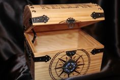 Customized Wood Burned Treasure Chest or Keepsake by BurnedInTime