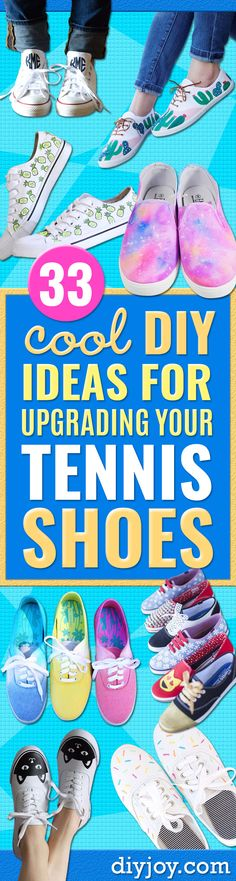 33 DIY Ideas for Upgrading Your Tennis Shoes - Cute and Easy Cheap Fashion Crafts Source by diyboard Crafts To Make And Sell, Easy Diy Crafts, Creative Crafts, Diy Crafts For Teen Girls, Diy For Teens, Diy Galaxy Shoes, Diy Fashion, Cheap Fashion, Colorful Fashion