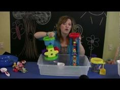 Video with ideas for water and sand play with toddlers with language delays. See the full summary at teachmetotalk.com.