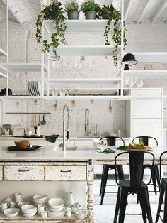 Decoración industrial en #cocinas