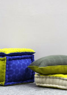 Hex-a-gone!  Playfully printed #pouf for your floors