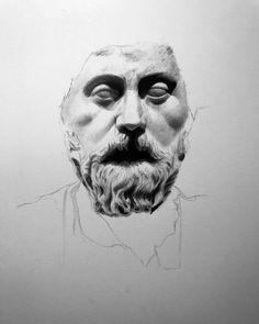 Marcus Aurelius | Work in progress 1  Anyone else here into Stoic Philosophy?  #marcusaurelius #stoicism #deepthinkdaily #deepthinking #castdrawing #portrait #stoic #philosophy #roma #emperor #artwork #monochrome #creativeuprising  #art #realism #drawing #bnw_society #bw_lover #monoart #noir #artcollector #artcollection #gladiator #blackandwhite #instaart #arte #arts #bnw  #worldofpencils