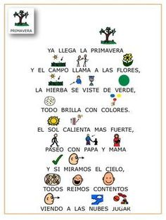 Poesia las estaciones del año con pictogramas. Spanish Vocabulary, Spanish Language Learning, Teaching Spanish, Speech And Language, Spanish Lesson Plans, Spanish Lessons, Spanish Songs, How To Speak Spanish, Elementary Spanish Classroom