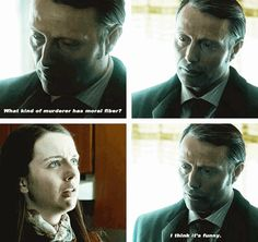 15 Perfect Jokes That Hannibal Lecter Told Abigail's face is perfect in this one!
