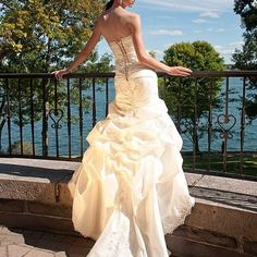 One of my beautiful brides in her gorgeous @alfredangelobridal dress.  This was a wedding a few years ago up in @1000_islands NY.  Such an amazing place to photograph a wedding.  They had the ceremony at @boldtcastle and then partied into the night on a river cruise . ⠀ ⠀ Where are you having your wedding?⠀ ⠀ I have moved a few times since then, but am now located in Greenville SC and photographing in the south east. ⠀ ⠀ #bridetobe2017 #wedding #weddingphotography