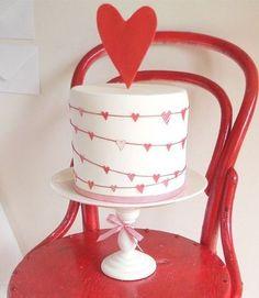 """adorable """"heart"""" cake"""