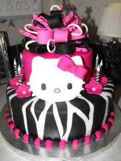 hello kitty cakes | hello kitty i made this for my little girls birthday she loves hello ...