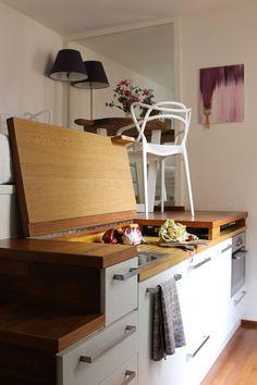 Kawalerka 15 m kw. Mini Loft, Small Bedroom Ideas On A Budget, Small Places, Studio Apartment, Houzz, Future House, Home Improvement, Kitchen Appliances, Furniture
