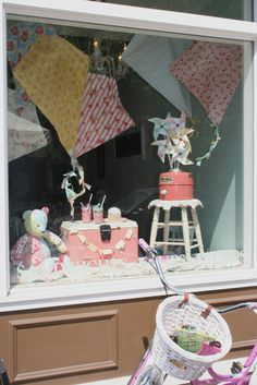 Sewn With Grace: Garden Gate Cafe Window