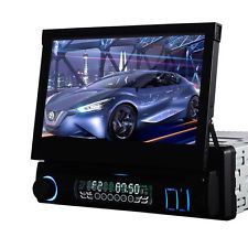 """7"""" Single Din Car CD DVD Player In Dash Stereo LCD Touch Screen Bluetooth Radio"""