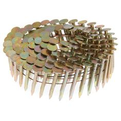 """Grip Rite GRCR2DCGAL 7/8"""" X .120"""" X 15° Wire Collated Galvanized Coil Roof Nails 7,200-ct"""