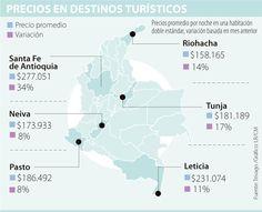 El precio promedio de una noche de hotel en Colombia es de $207.000 Map, Double Standards, Abundance, Hotels, Night, Colombia, Location Map, Peta, Maps