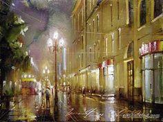The series Night Arbat Ramil Gappasov