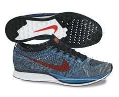 buy online 1c8b5 12e5e Nike Flyknit Racer - Neo Turquoise   Bright Crimson   Sole Collector Nike  Flyknit Racer,