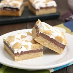 Easy s'mores bars. I made these for a bbq, cut them & put them in cupcake papers for easy distribution. They were the first dessert to go :)