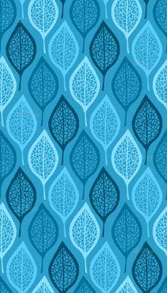Spoonflower: Skeleton leaves - blue by Siya