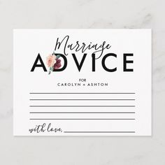 Foliage Marriage Advice Cards Modern Script Navy Blue Wedding Advice and Wishes Wedding Guest Advice Card Metallic Gold Advice Card f. Wedding Reception Activities, Small Wedding Receptions, Reception Ideas, Marriage Advice Cards, Wedding Advice Cards, Bridal Shower Games, Bridal Shower Invitations, Flower Typography, Bold Typography
