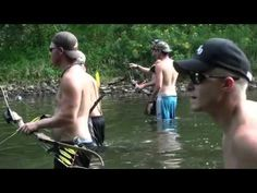 Bowfishing Grass Carp with the Bad Ass Slingshot - YouTube