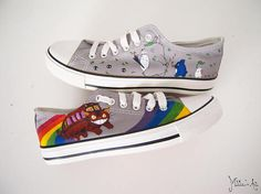 Studio Ghibli hand painted shoes series / Totoro and Chibitotoro shoes / Catbus shoes / Ghibli Characters, by Matita's Art