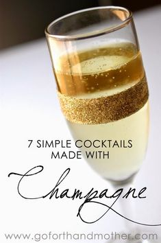 7 Simple Cocktails Made with Champagne #aviationcocktailrecipes