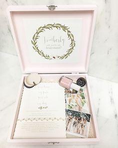 Will you be my bridesmaid box. Bridesmaid. Bridesmaids. Bridesmaid box. They said yes. Be my bridesmaid. Engagement. Bridesmaid Gift. Bridesmaid Box DIY.