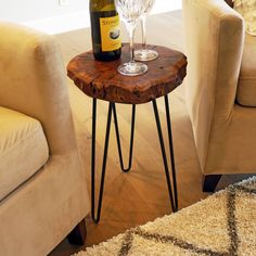 Looking for WELLAND Unique Shape Natural Wood Stump Rustic Surface End Table ? Check out our picks for the WELLAND Unique Shape Natural Wood Stump Rustic Surface End Table from the popular stores - all in one. Wood Stump Side Table, Wood End Tables, Coffee Tables, Tree Stump Table, Wood And Metal, Solid Wood, Wood Stumps, Reclaimed Furniture, Round Side Table