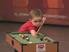 23-Month-Old Pool Player. Okay, I guess I should have started younger....
