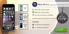 4GB LTE o2 Blue All-in L für 39,99€ mit TOP-Smartphone ab 1 EUR http://www.simdealz.de/o2/o2-blue-all-in-l-mit-top-smartphone/