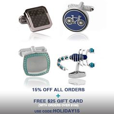 Use Code: HOLIDAY15   15% off All Orders plus get a FREE $25 Gift Card with orders over $100.