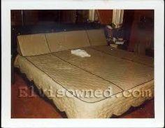 Elvis' custom made bed in his room, upstairs at Graceland