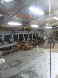 Atelier Trier von Sebastian Böhm im Schwarzspiegel II, Dezember 2013. Vorbereitungen für die Ausstellung im Januar 2014.