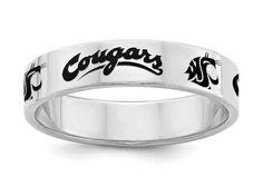 Single Logo College Jewelry Ohio Bobcats Ring Ring Narrow Style 4MM Wide Band