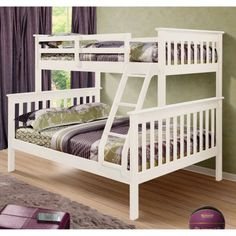Donco Kids Twin Over Full Mission Bunk Bed | Hayneedle