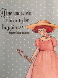 Handmade Fridge Magnet-Mary Engelbreit Artwork-There Is No Cosmetic