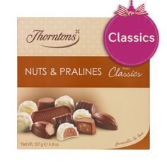 Thorntons Classics - Nuts & Pralines Because we're all a bit nutty! Chocolate Dreams, Chocolate Toffee, Thorntons Chocolate, Yummy Treats, Sweet Treats, Chocolate Hampers, Thorntons Hamper, Fudge, Tasty