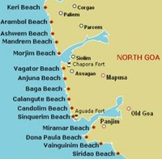 Goa is well-known for its serene beaches. The coastline of Goa extends over 125 km and the Goa beaches envelop an area of 83 km. The beaches in Goa are a blend of swaying palm trees, serene charm, Goan cuisines and flea markets. Anjuna, Baga, Arambol, Colva, Miramar and Dona Paula are few popular beaches in Goa.