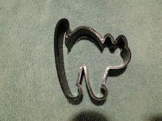 "Vintage Hallmark Cards 1986 Plastic Black Cat Shaped Cookie Cutter 3 1/2"" X 4"""
