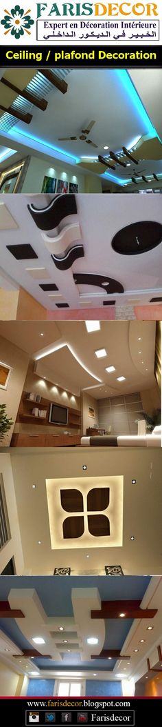 Ceiling / plafond Decoration #Décoration #Architecture #House  #Luxe #Moderne #Floors #Ceiling #Wall #Afrique #Europe #Casablanca #Maroc #Morocco Gypsum Ceiling Design, Pop False Ceiling Design, Ceiling Decor, Ceiling Ideas, Ceiling Lights, Interior Exterior, Interior Design, Luxury Living, Modern Bedroom