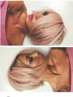 Shaggy Medium Length Bob - 60 Messy Bob Hairstyles for Your Trendy Casual Looks - The Trending Hairstyle My Hairstyle, Pretty Hairstyles, Bob Hairstyles, Bob Haircuts, Girly Hairstyles, Blond Rose, Short Hair Cuts, Short Hair Styles, Hair Affair