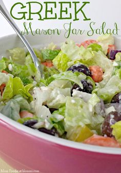 Greek Salad in a Mason Jar: Instructions and Tips on Packing a Salad in a Jar - Mom Foodie - Blommi