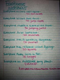 Footloose movie workout!