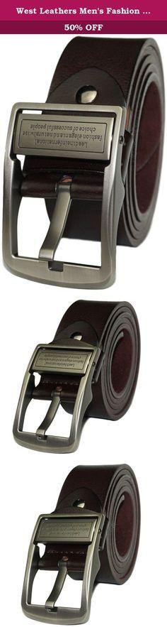 Columbia Men BROWN Washed Cotton Belt New design Waist Belt Waistband strap 35mm